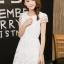 ชุดเดรสชีฟองเกาหลี ชนิดเนื้อทราย สีขาว สวยมากๆ thumbnail 4