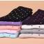 S343 **พร้อมส่ง** (ปลีก+ส่ง) ถุงเท้าแฟชั่นเกาหลี ข้อยาว คละ 5 สี มี 10 คู่/แพ็ค เนื้อดี งานนำเข้า(Made in China) thumbnail 2