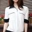 เสื้อทำงาน เสื้อแฟชั่น เสื้อเกาหลี เสื้อแขนยาว คอปก กระดุมหน้า กระเป๋าหน้า เสื้อสีขาว สวยมากๆ (พร้อมส่ง) thumbnail 1