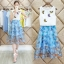 แฟชั่นเกาหลีมาใหม่ set 2 ชิ้น เสื้อและกระโปรง สวยเก๋มากๆ thumbnail 2