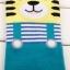 A017 **พร้อมส่ง**(ปลีก+ส่ง) ถุงเท้าแฟชั่นเกาหลี ลายเอี๊ยม มีหู มี 6 สี (แดง ดำ เทา ฟ้า ม่วง เขียว) เนื้อดี งานนำเข้า( Made in Korea) thumbnail 8