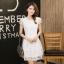 ชุดเดรสชีฟองเกาหลี ชนิดเนื้อทราย สีขาว สวยมากๆ thumbnail 7