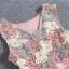 ชุดเดรสสวยๆ ตัวเสื้อผ้าถักโครเชต์ลายดอกไม้ 3 สี (เทา ครีม และชมพูกะปิ) แขนกุด thumbnail 4