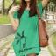 เสื้อยืดเกาหลี ตัวยาว ลาย กังหันลม สีเขียว thumbnail 1