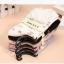S336 **พร้อมส่ง** (ปลีก+ส่ง) ถุงเท้าแฟชั่นเกาหลี ข้อยาว คละ 5 สี มี 10 คู่/แพ็ค เนื้อดี งานนำเข้า(Made in China) thumbnail 5