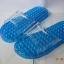 K021-BL**พร้อมส่ง** (ปลีก+ส่ง) รองเท้านวดสปา เพื่อสุขภาพ สีน้ำเงิน ปุ่มเล็ก(ใส)แบบนิ่ม ส่งคู่ละ 120 บ. thumbnail 4