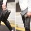Pre-order ขายส่งกระเป๋าคลัทซ์ผู้ชาย กระเป๋าหนีบใส่โทรศัพท์8 นิ้ว แฟชั่นเกาหลี รหัส Man-6035-7 สีดำ thumbnail 5