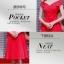 ชุดเดรสสีแดง ผ้าโพลีเอสเตอร์ผสม ไหล่ป้าน ปิดช่วงต้นแขน เข้ารูปช่วงเอว thumbnail 5