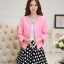 แฟชั่นเกาหลี set เสื้อสูท สีชมพู และกระโปรง สวยมากๆ thumbnail 1