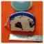 กระเป๋าผ้าใส่เหรียญ สีครีมลายเรือใบ กุ๊นสีน้ำเงิน thumbnail 1