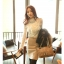 เสื้อลูกไม้ แฟชั่นเกาหลี ชนิดเนื้อนิ่ม สีขาว แขนยาว คอเต่า แต่งคอเสื้อด้วยคริสตรัลใส thumbnail 1