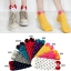 A018**พร้อมส่ง** (ปลีก+ส่ง)ถุงเท้าแฟชั่นเกาหลี โบว์ลายจุด ข้อสั้น มี 8 สี ดำ เทา ฟ้า แดง ม่วง เหลือง ชมพู ขาว เนื้อดี งานนำเข้า (Made in Korea) thumbnail 1