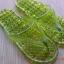 K013-DGR **พร้อมส่ง** (ปลีก+ส่ง) รองเท้านวดสปา เพื่อสุขภาพ ปุ่มเล็ก (ใส) หูหนีบ สีเขียวขี้ม้า ส่งคู่ละ 80 บ. thumbnail 1