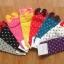 A018**พร้อมส่ง** (ปลีก+ส่ง)ถุงเท้าแฟชั่นเกาหลี โบว์ลายจุด ข้อสั้น มี 8 สี ดำ เทา ฟ้า แดง ม่วง เหลือง ชมพู ขาว เนื้อดี งานนำเข้า (Made in Korea) thumbnail 13