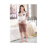 ชุดนอนคนท้อง เสื้อและกางเกง รูปหนู เปิดให้นมได้ - PJ0007