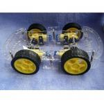 4WD Robot Smart Car Chassis kits car with speed encoder dc 3v 5v 6v for Arduino(คละสี B/W)