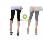 กางเกงเลคกิ้งคนท้องขา 3 ส่วน ผ้านิ่มใส่สบาย ปรับสายที่เอวได้ - 6681