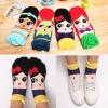 A016**พร้อมส่ง** (ปลีก+ส่ง)ถุงเท้าแฟชั่นเกาหลี ลายกระโปรง มี 4 สี (น้ำเงิน เขียวอ่อน ฟ้า เหลือง )เนื้อดี งานนำเข้า ( Made in Korea)