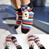 A014**พร้อมส่ง** (ปลีก+ส่ง)ถุงเท้าแฟชั่นเกาหลี ลายหัวเห็ด พับข้อ มี 5 สี (ดำ ขาว แดง เทา ม่วง) เนื้อดี งานนำเข้า ( Made in Korea)