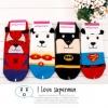 A007 **พร้อมส่ง**(ปลีก+ส่ง) ถุงเท้าแฟชั่นเกาหลี ข้อสั้น ลายซุปเปอร์ฮีโร่ (Super Hero)มี 4 แบบ เนื้อดี งานนำเข้า( Made in Korea)