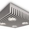 Ledino - โคมไฟเพดาน (4 LED สีเทา)
