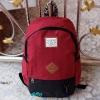 พร้อมส่ง DW-8226-สีแดง-ดำ กระเป๋าเป้ผ้าไซร์ใหญ่ตัดเย็บ two-tone