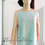 "FINAL SALE 40%  ""Sweety Pastel Top > Soft Green(Mint) - Orange(Peach)"""
