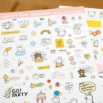 sticker happy day รหัส 1355