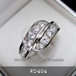 แหวนเพชรหญิงไขว้กัน RD404