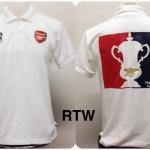 เสื้อโปโล อาร์เซนอล ลาย แชมป์ FA Cup สีขาว RTW