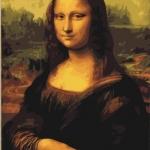 """ภาพระบายสีตามตัวเลข """"โมนาลิซ่า"""""""