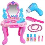 ชุดโต๊ะเครื่องแป้งเด็ก มีเสียง และ มีไฟ – สีชมพู
