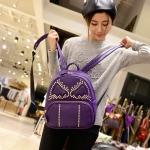 กระเป๋าเป้สะพายหลังผู้หญิง แฟชั่นเกาหลี TIANCAI (สีม่วง)