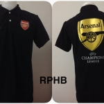 เสื้อโปโล อาร์เซนอล สีดำ RPHB