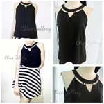"FINAL SALE ABOUT 50% ""GROOVING HIGH-NECKLINE TOP"" > Black"