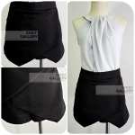 "FINAL SALE 50% BLACK  CULOTTE WITH LAYERED  FRONT ""STYLE ZARA"" *เหลือไซส์ M"