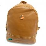 กระเป๋าเป้หนังPU นิ่มแต่งอะไหล่ซิปเหล็กสีทองสไตล์เกาหลี
