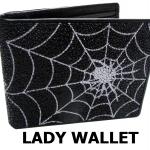 กระเป๋าสตางค์ปลากระเบน ลายใยแมงมุม