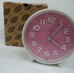 นาฬิกาปลุกมีไฟ สีชมพู รหัส 1314