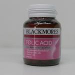 Blackmores Folic acid 500 mg 90 เม็ด โฟลิค แบล็คมอร์ 90 เม็ด วิตามินสำหรับคนท้อง หรือผู้ที่ต้องการบำรุงเลือด ลดพิเศษ