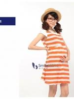 CN094(จีน)ชุดคลุมท้อง ผ้ายืด แบบย่นๆ นุ่ม ฟู ใส่อยู่บ้านสวยๆ สบายๆสีส้ม