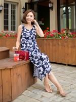 (เกาหลี) ชุดคลุมท้อง ผ้ายืดลายดอกทานตะวัน ใส่คาดิแกนทับกลายเป็นชุดสวยหรู ใส่ไปทะเลเนียนสุดๆ สาวก้านยาวไม่ควรพลาดนะจ๊ะ