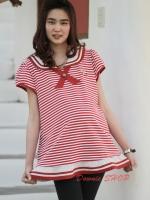 (ฮ่องกง) เสื้อให้นม สีแดง