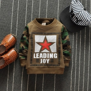 เสื้อกันหนาวแขนลายทหารหล่อม๊าก &#x1F499 สีน้ำตาลราคายกแพ็ค 4 ตัว / 600บาท