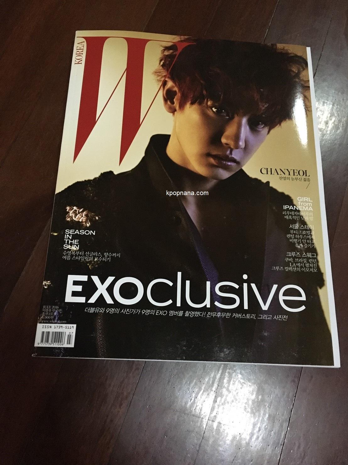 นิตยสาร W KOREA 2016.07 หน้าปก ชานยอล พร้อมส่ง