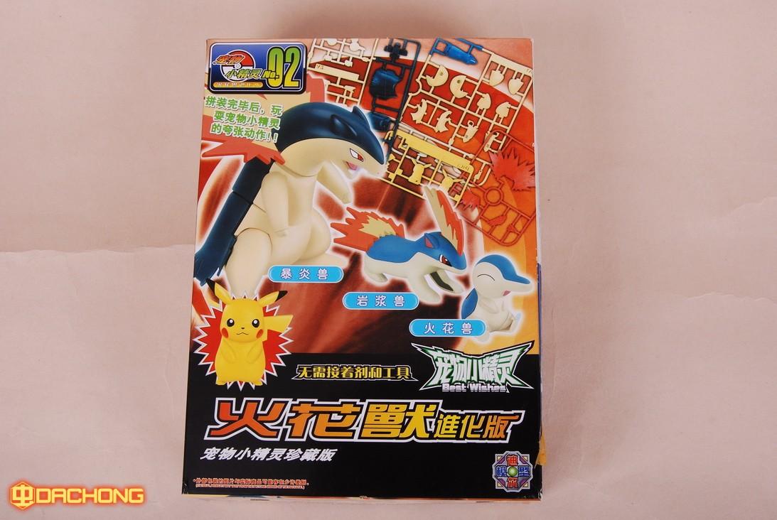 Pokemon plamo Collection Typhlosion Evolution Set