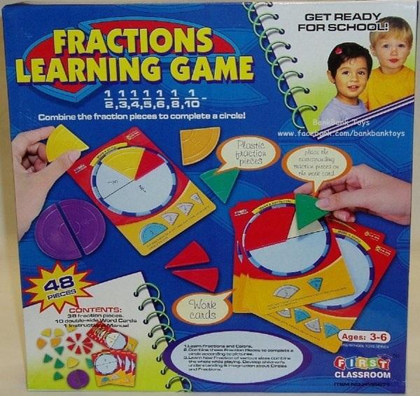 เกมรูปทรงกลม - Fraction learnning Game