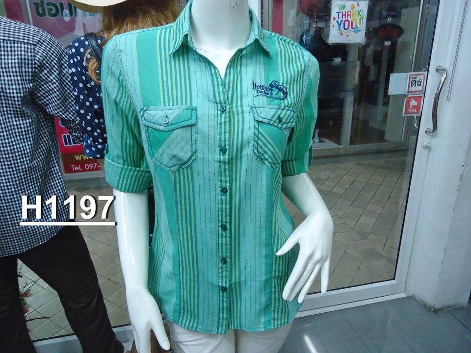 """H1197 """"เสื้อแมลงปอ"""" cotton 100%"""