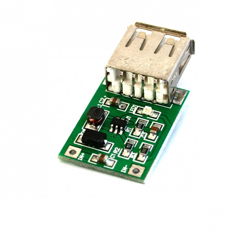 DC-to-DC Step Up Boost Converter Module with USB
