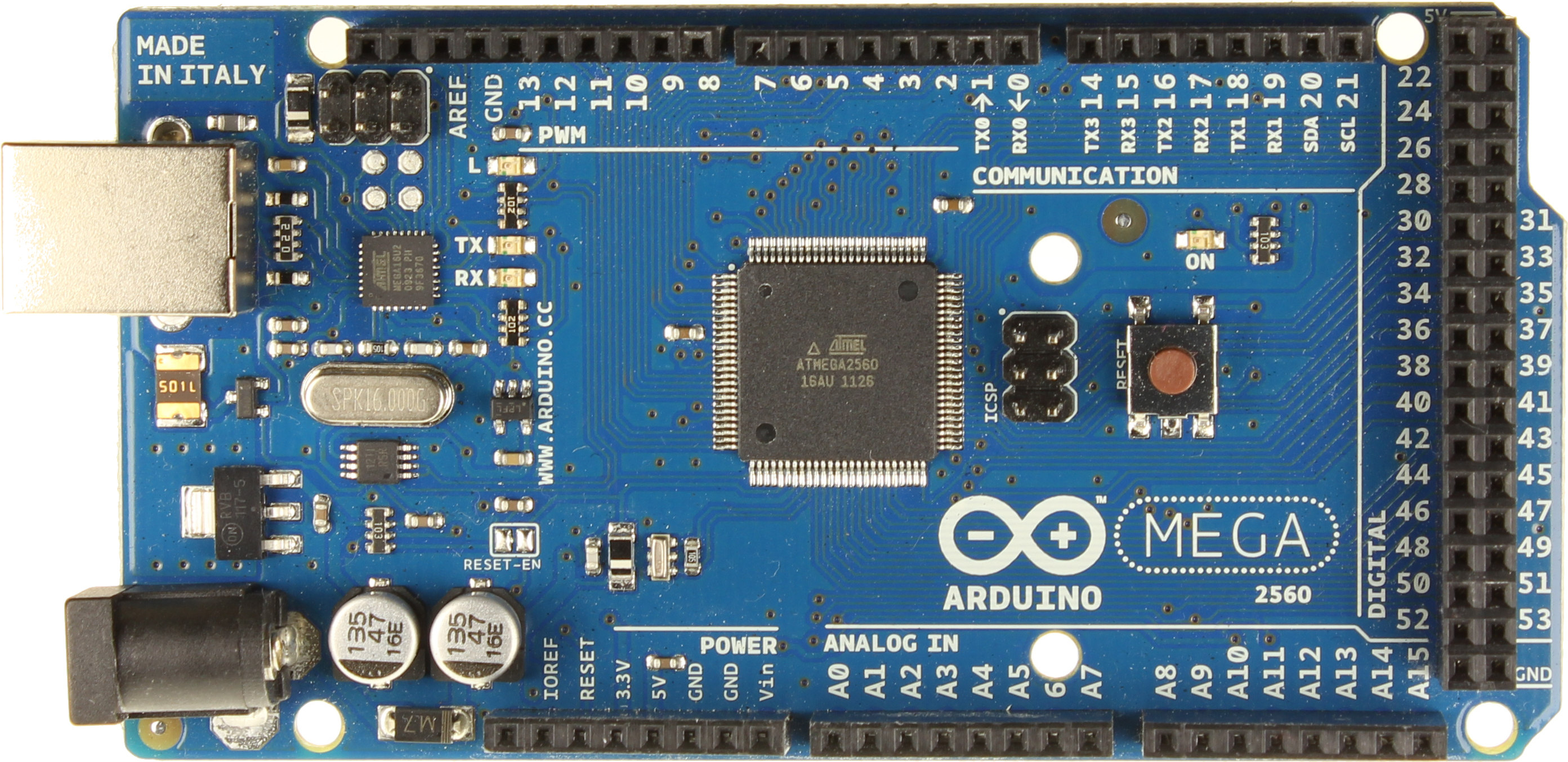 Arduino Mega 2560 R3 (Board from Italy) + Free USB Cable